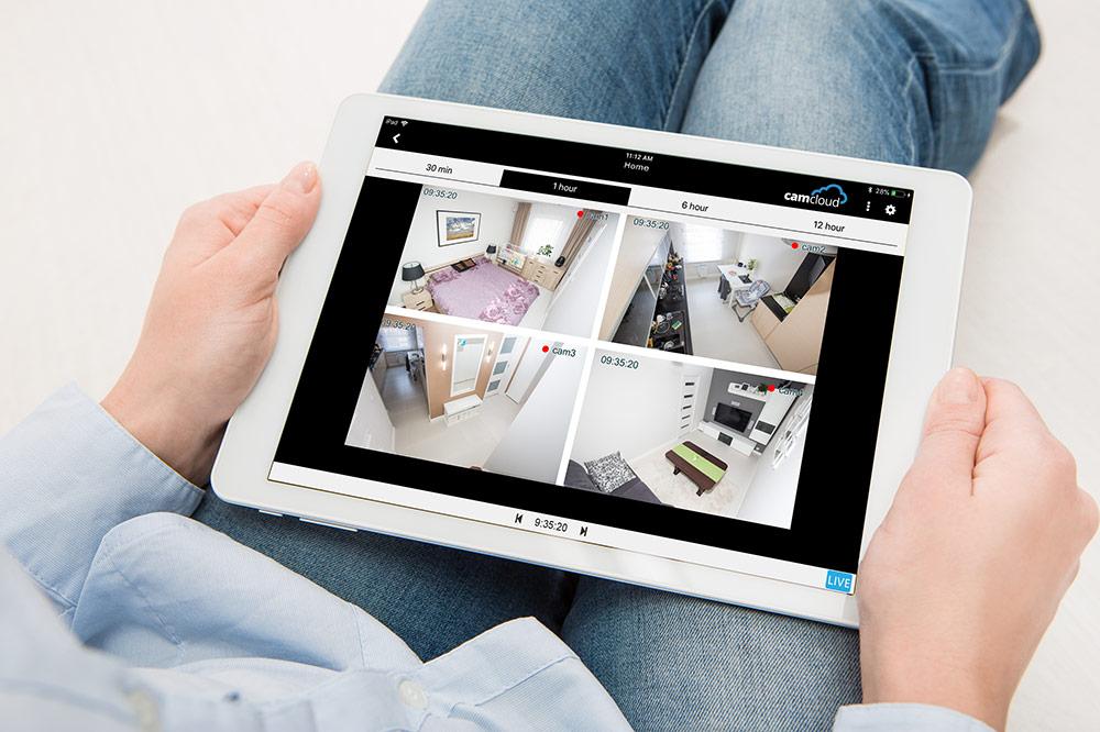 Cloud Video Surveillance iPad